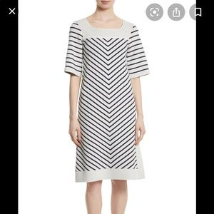 Tory Burch Anya striped knit dress XL retail$425US